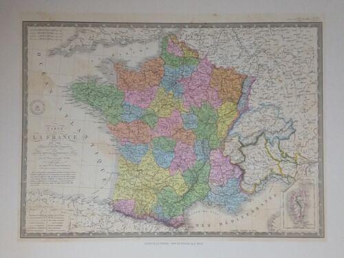 Carte De La France – Map of France by A. Brue