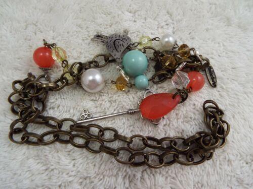 PLUNDER Brasstone Charm Necklace (C62)
