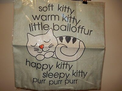 New Sealed Soft Kitty Warm Kitty Little Ball of Fur Pillow Cover (Soft Kitty Pillow)