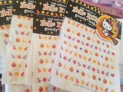 Halloween Hello Kitty Nail Art (Vintage Hello Kitty 5 Sheets Halloween Nail Art Tatoos (Water Decals) New)