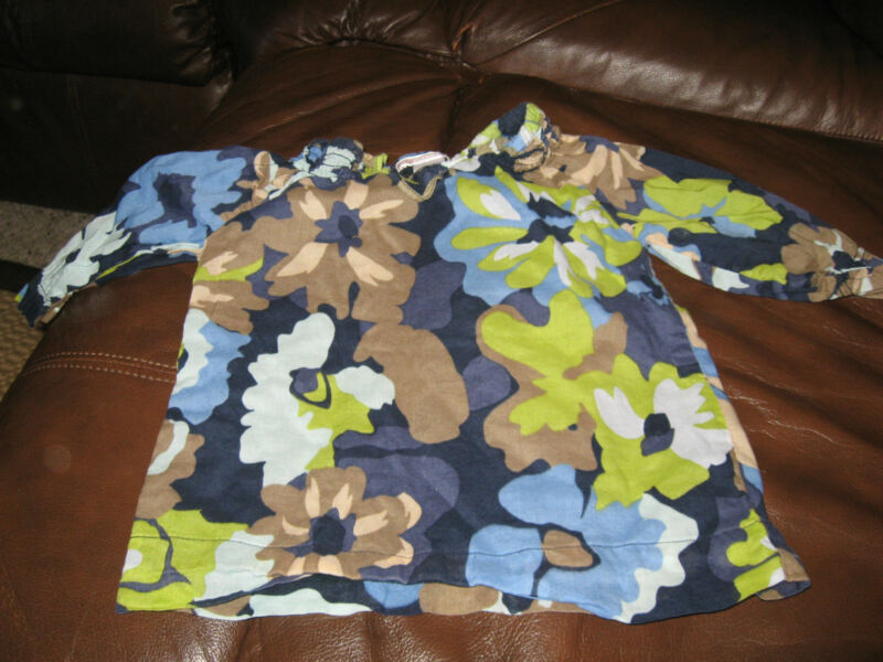 Old Navy Navy Floral Print Spring Summer Long Sleeve Top 18-24 months GUC