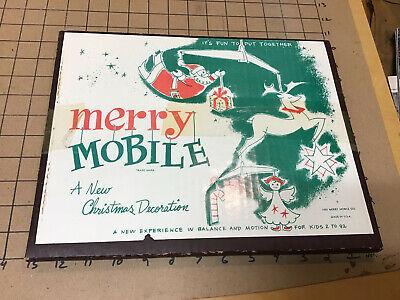 Original 1952 Christmas Decoration: MERRY MOBILE balance & motion - complete ()