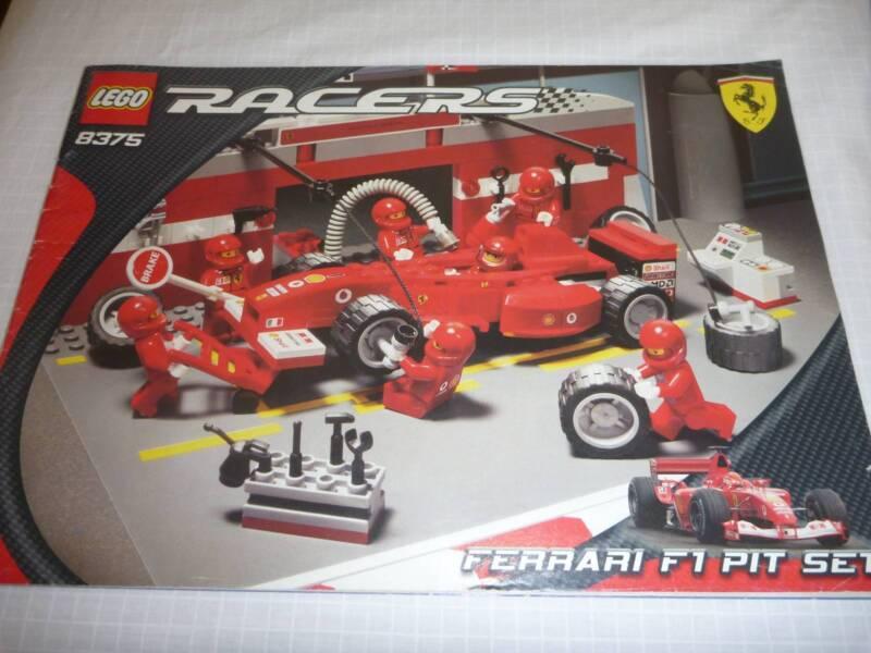 Lego Racers Ferrari F1 Pit Stop Set 8375 Complete Instructions