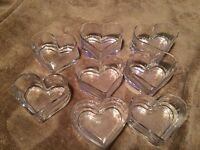glass heart dishes