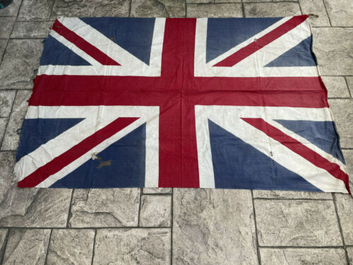 WW2 Original British Union Jack Printed Cotton Flag 170cm x 115cm VE Day