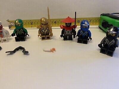 LEGO NINJAGO  WARRIOR MINIFIGURES Red Hats Swords Lot 6