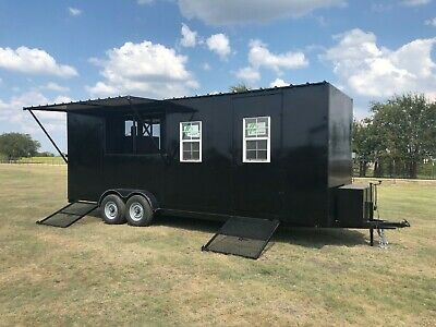 New Custom Bbq Pit Charcoal Grill Smoker Concession Style Trailer