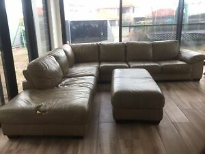 Nick Scali Modular leather Lounge suite Sylvania Waters Sutherland Area Preview