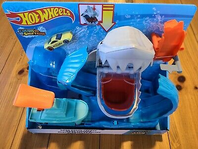 Hot Wheels City Robo Shark Frenzy PlaySet Kid Toy Gift - Color Shifters Vehicle