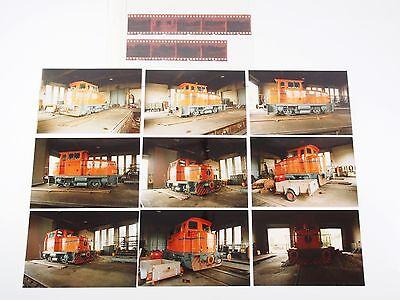 """9 Fotos mit Negativen - Diesellok Hafenbahn Lok 5 - Braunschweig 1987 """"Zbb01"""