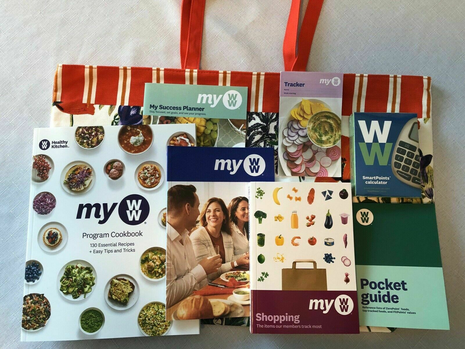 Weight Watchers MY WW 2020 Diet ULTIMATE STARTER KIT with FREE Fashion Tote Bag