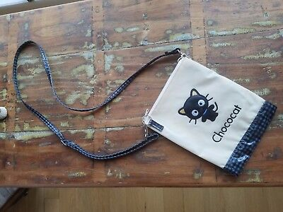 Chococat Sanrio Hello Kitty 1999 Gingham Check Vinyl Cross-body Bag Adjustable