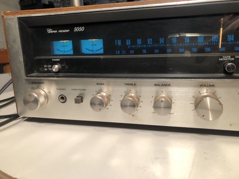 Sansui 5050 Stereo Receiver AM/FM Radio Vintage Japan - Tested and Working