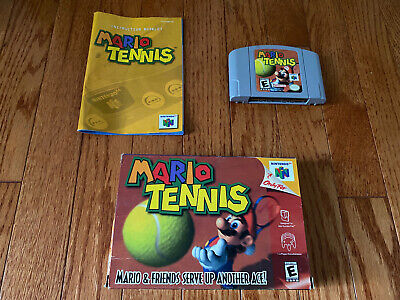 Authentic Nintendo 64 Mario Tennis 64 Game Box N64 Instructions!
