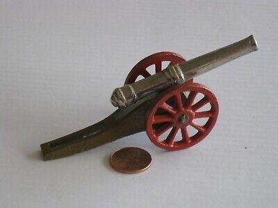 Grey Iron, Cast Iron Nickeled Barrel Cannon, Scarlet Wheels; Ex+, 1930s Toy  Gray Iron Wheel
