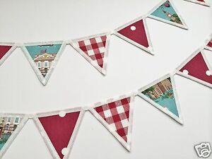 Kidston Fabric Bunting Curtain Tie Backs London Gingham Spot Ebay