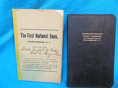 1914   1942 Bank Checkbook   Savings Book Trumansburg Ny Tompkins County Trust