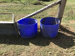 2x plastic drums Chatsworth Gympie Area Preview