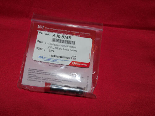 Phenomenex AJO-8768 SecurityGuard ULTRA Cartridges for UHPLC C18, 4.6mm, 3/Pk
