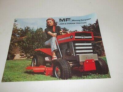 Massey Ferguson Mf12 Mf14 Mf8 Mf5 Lawn And Garden Sales Brochure