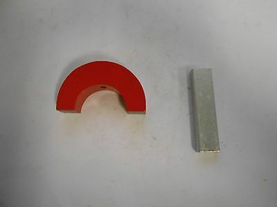 Eclipse Magnetics 55 Lb  Pull Alnico 5 Horseshoe Magnet 3  Width M19622 Msc