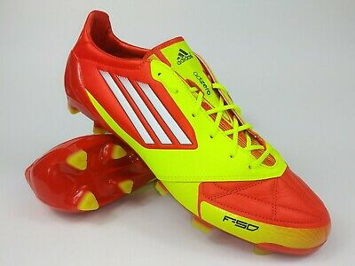 e9d60900674 Adidas Mens Rare F50 adizero TRX FG Leather Orange Yellow Cleats Boots Size  10