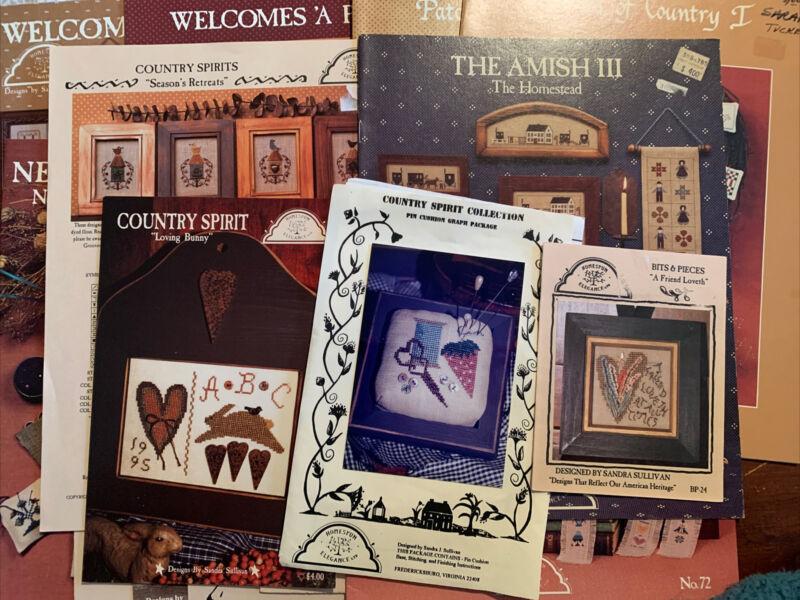 15 Homespun Elegance (#3) Cross Stitch Leaflets Destash Lot Country Spirit Bunny