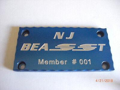 85-97 TPI//LT1 Billet Throttle Body Plate Cover GTA Trans Am BLACK CBW-016BK