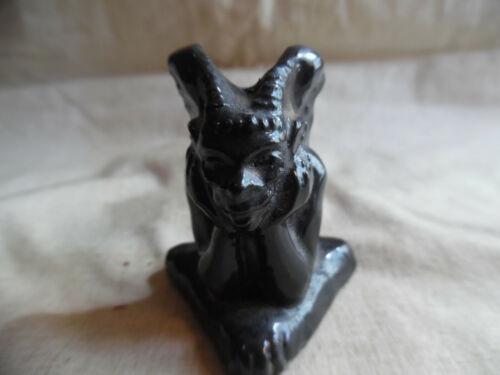 Vintage Gargoyle Incense Burner Black Ceramic For Sticks