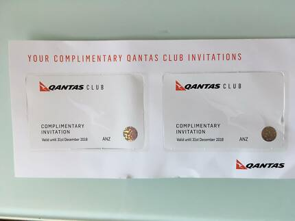 Qantas Club Complimentary Invitation