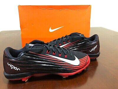 the latest 2d5bb 38883 Men s Nike Lunar Vapor Pro Metal Baseball Cleats Black Red Size 13 683895  016