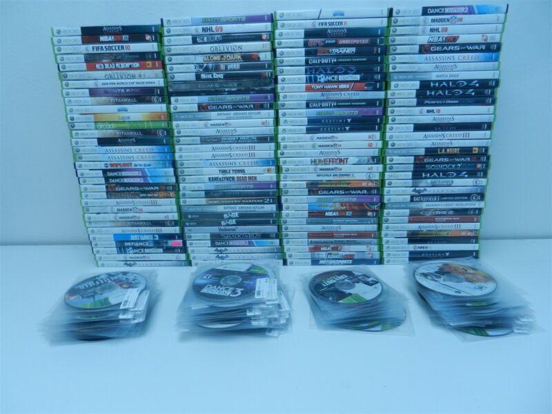 Lot of 236 Microsoft Xbox 360 Games - COD World At War, GTA 4, WWE 2k16