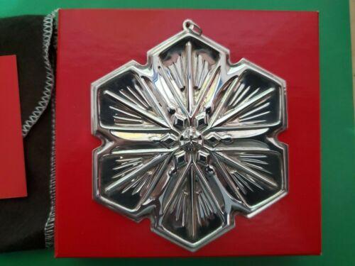 1992 Gorham Sterling Silver Annual Snowflake Ornament ~ Original Box & Pouch