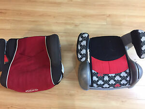 Two booster car seats