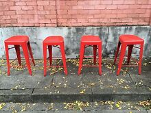 Red Metal Tolix Style Bar Stools (8 Available) Wollongong Wollongong Area Preview