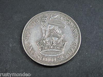 (1) King George V, 1935, .500 Silver Shilling. Grade Very Fine