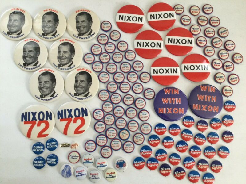 124) 1972 NIXON PRESIDENTIAL CAMPAIGN BUTTONS