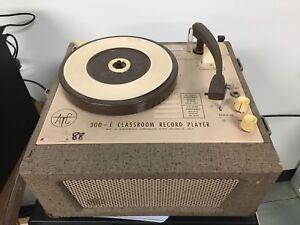 1960's Audiotronics 300E Classroom Record Player Phonograph