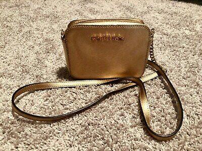 Michael Kors Women's Jet Set Item Crossbody Bag Clutch - Gold