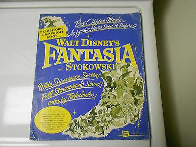 1956 re-issue Complete FANTASIA Walt Disney PRESSBOOK PRESS KIT Mickey Mouse
