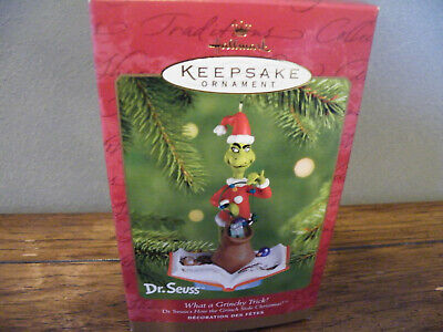 Hallmark Christmas Ornament DR SUESS WHAT A GRINCHY TRICK!/2001/How Grinch Stole