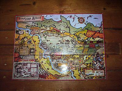 GREYFRIARS SCHOOL A4 LAMINATED MAP BILLY BUNTER MAGNET COMIC FRANK RICHARDS