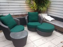 Outdoor garden chairs, table and footrest Woollahra Eastern Suburbs Preview