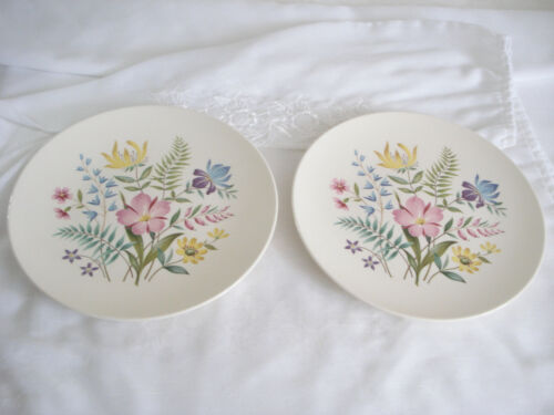 Two Vintage Mid-Century Edwin Knowles SCANDIA Dinner Plates X-4020