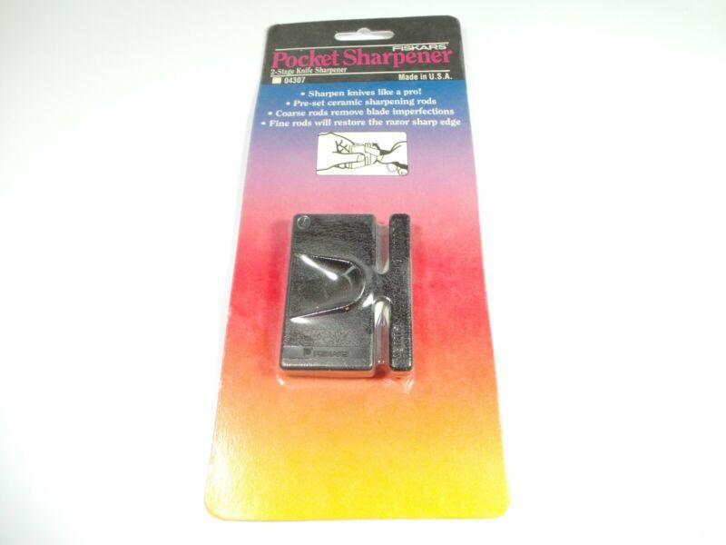 NEW Fiskars/Gerber knife sharpener,two stage  Ceramic Pocket Sharpener  Italy