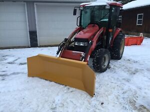 Compact tractor snow blade