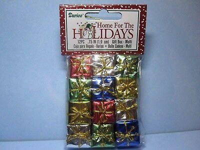 Wrapped Christmas Presents (Dollhouse Miniature Foil Wrapped Christmas Presents Gifts package of)