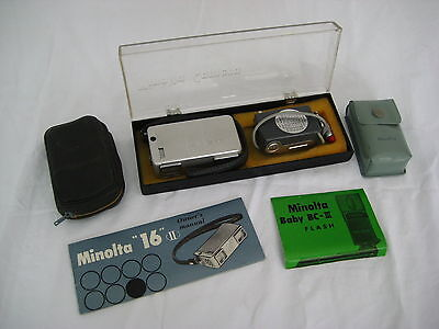 """Миниатюрные камеры Vintage Minolta """"16"""" II"""