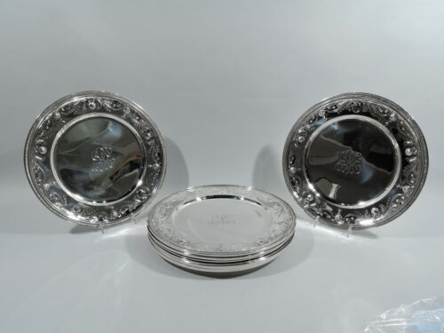 Tiffany Plates - 19263A - Antique Dinner Chargers - American Sterling Silver