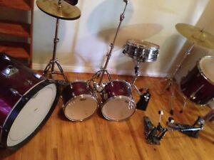 Drum set, (Tama) 5 piece w/ double kick